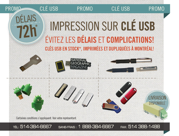 Clef USB promotionnels